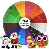 Filamentos Lapiz 3D PLA, Rilitor Filamento de pluma 3D 12 Colores 1,75 mm, 3M por Color, Apto para Mayora de 3D Plumas e 3D Impresoras