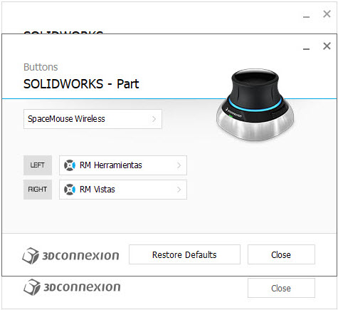 imagen configuracion 3DxWare 10 botones part