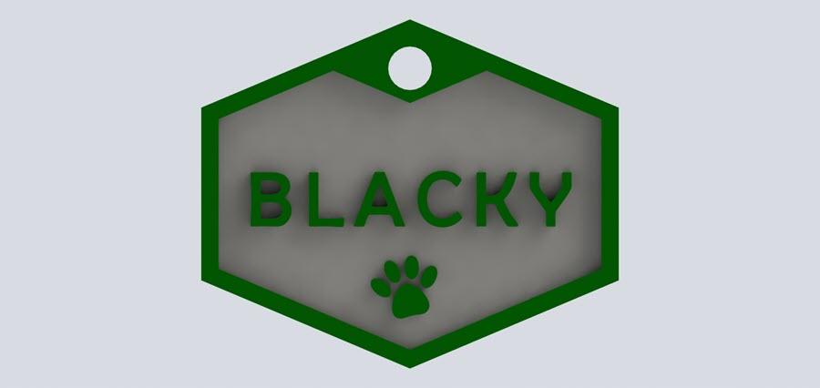 plaquita personalizada perro