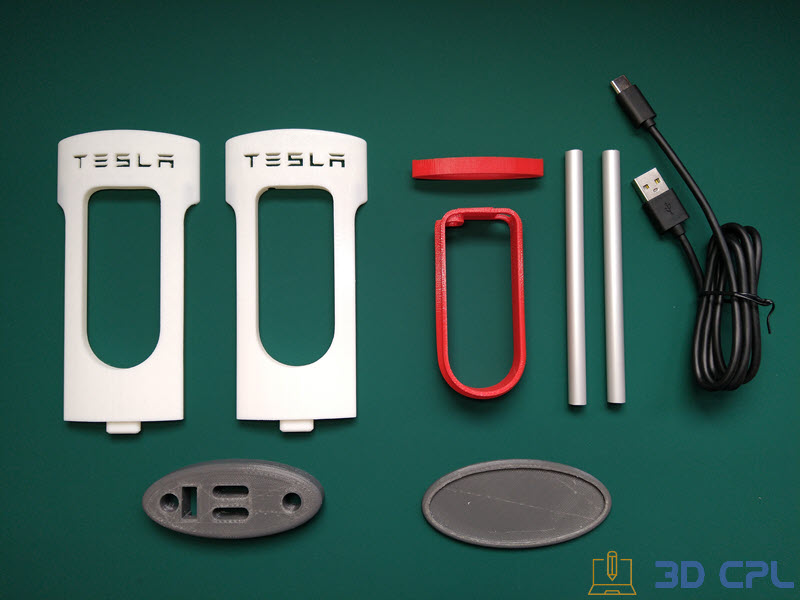 Despiece Tesla SuperCharger Phone Charger
