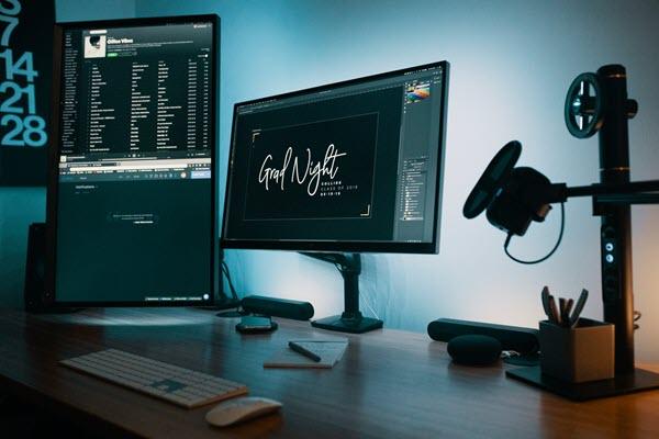 espacio de trabajo monitor