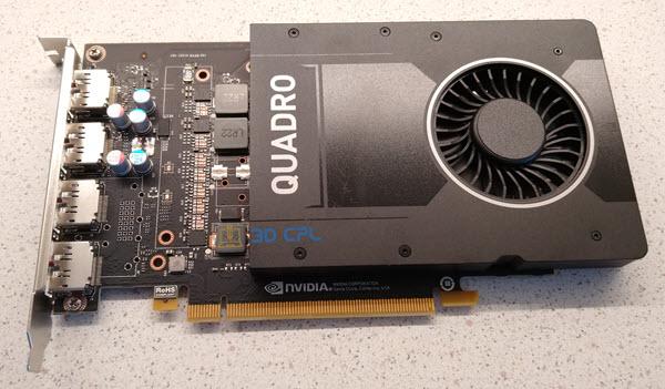 Fotografía tarjeta gráfica Nvidia Quadro P2000 que monto en el ordenador