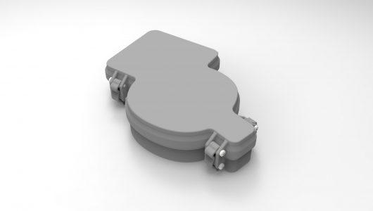 Caja transporte teclado 3D
